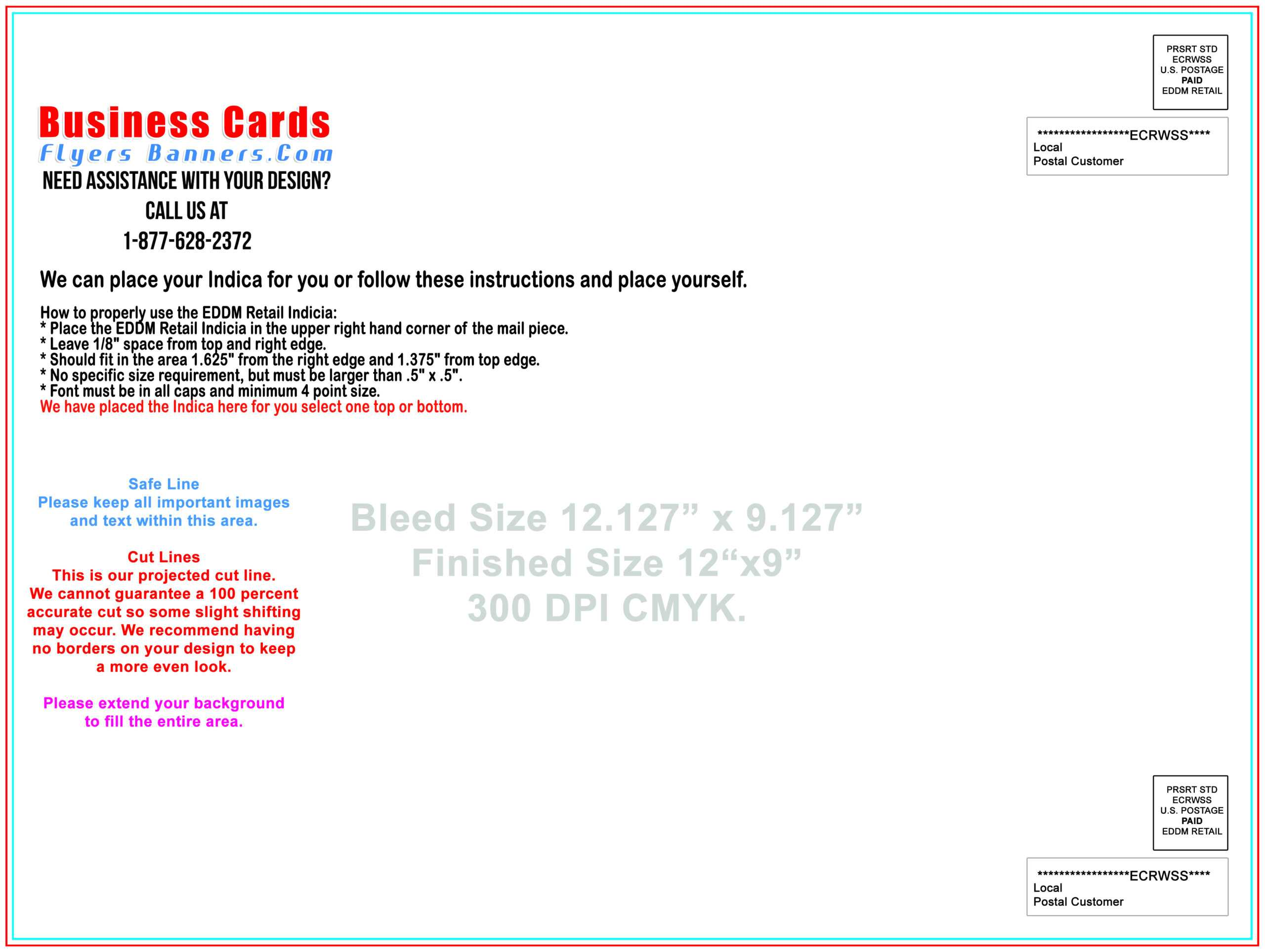 Eddm Postcard Templates - Free Shipping And Low Prices Within Every Door Direct Mail Postcard Template