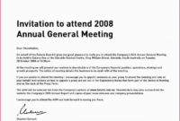 Editable Sample Invitation Letter Stakeholders Meeting New within Email Template For Meeting Invitation