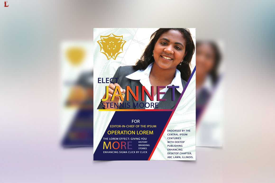 Election Flyer Templateayme Designs | Thehungryjpeg Pertaining To Election Templates Flyers