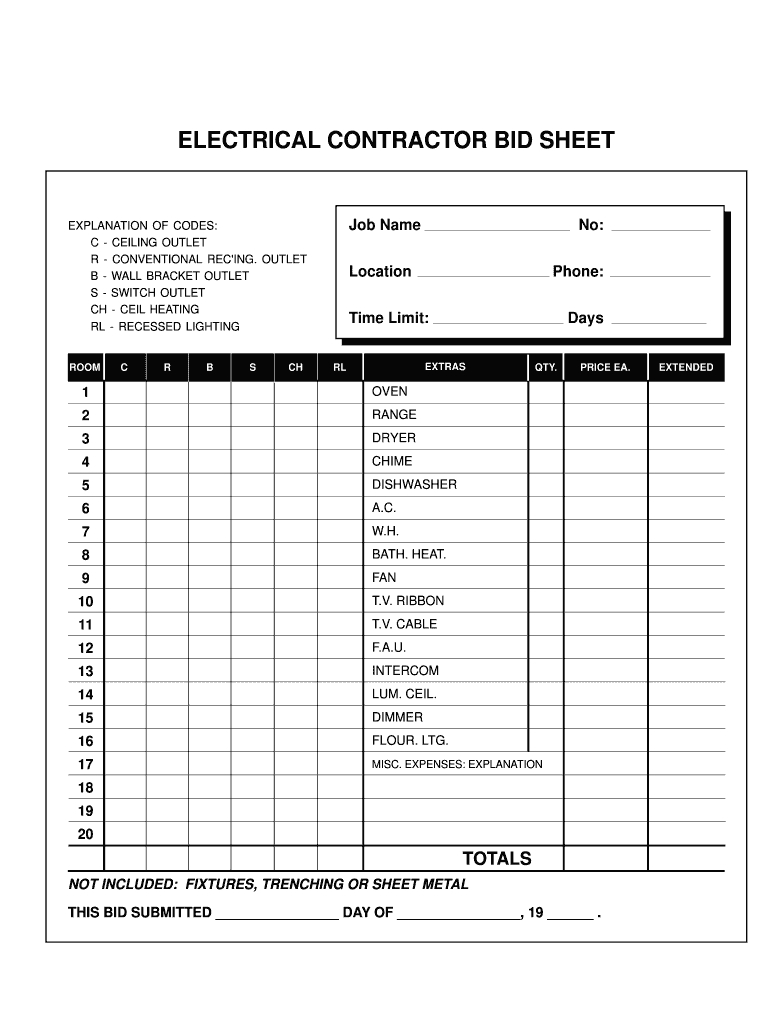 Electrical Proposal Template – Fill Online, Printable Regarding Electrical Proposal Template