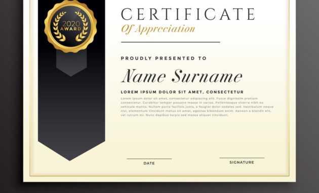 Elegant Diploma Award Certificate Template Design throughout Design A Certificate Template