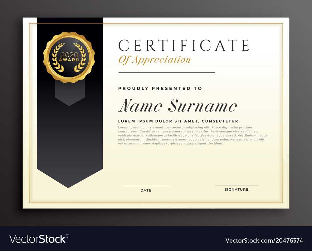 Elegant Diploma Award Certificate Template Design Throughout Design A Certificate Template