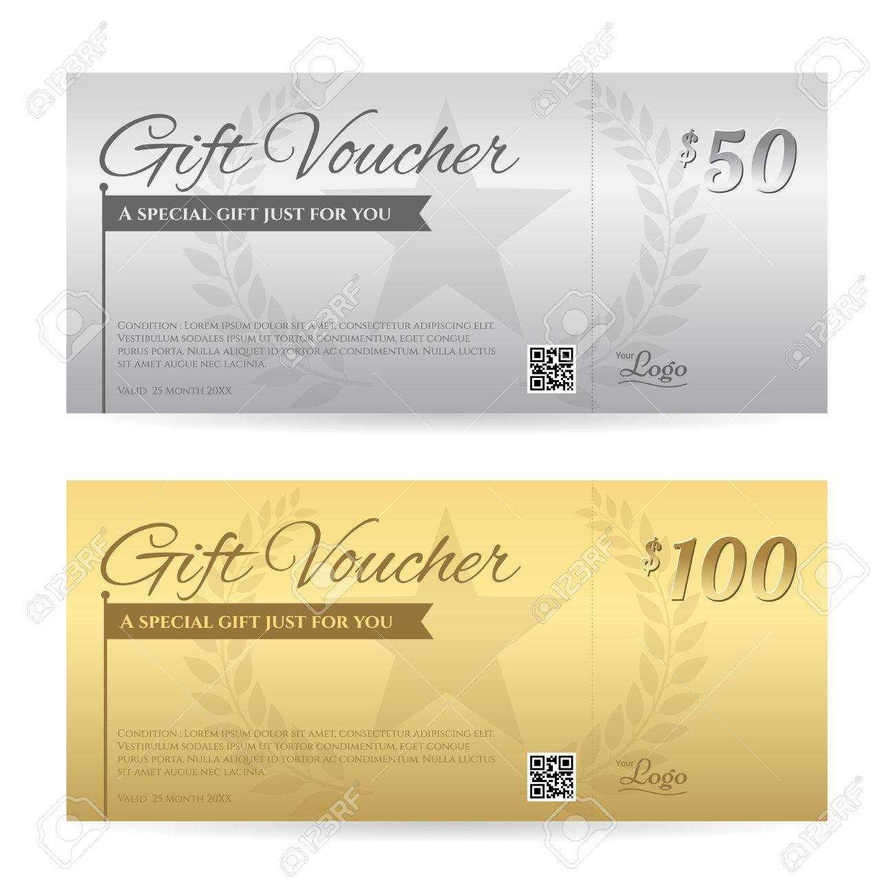 Elegant Gift Voucher Or Gift Card Certificate Template In Gold.. With Elegant Gift Certificate Template