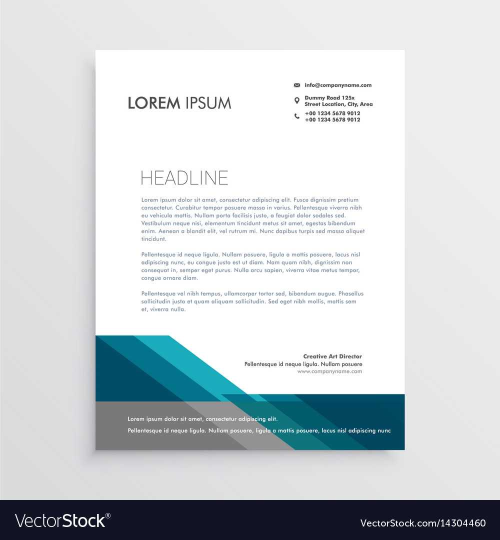 Elegant Letterhead Design Template With Blue And Intended For Elegant Letterhead Template