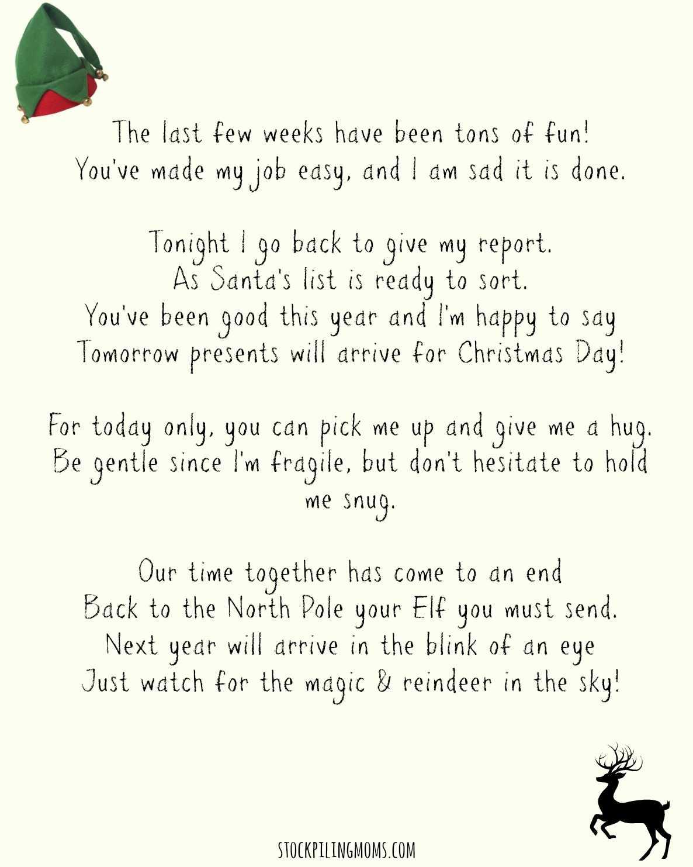 Elf On A Shelf Goodbye Letter Printable - Stockpiling Moms™ With Elf On The Shelf Goodbye Letter Template