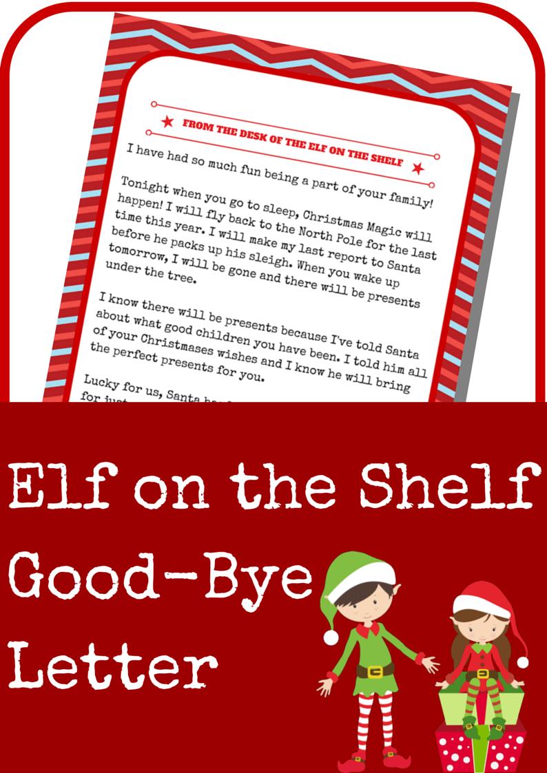 Elf On The Shelf Good Bye Letter - A Grande Life Pertaining To Elf On The Shelf Goodbye Letter Template