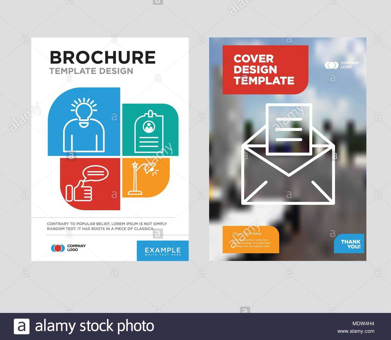 Email Brochure Flyer Design Template With Abstract Photo Within Email Flyer Template