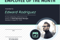 Employee Of The Month Certificate Of Recognition Template inside Employee Of The Month Certificate Template