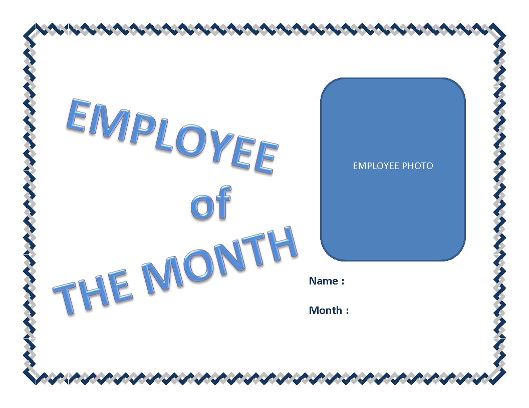 Employee Of The Month Certificate Template | Templates At With Regard To Employee Of The Month Certificate Templates