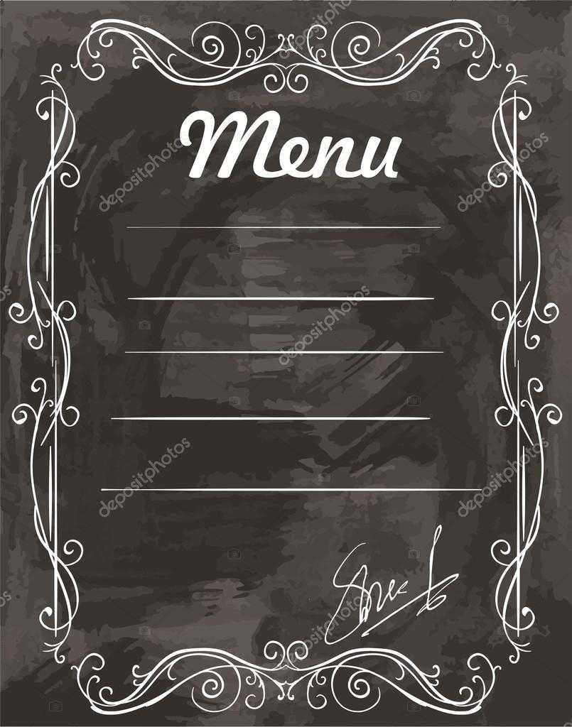 Empty Sample Menu — Stock Vector © Lapuma #96609086 Pertaining To Empty Menu Template