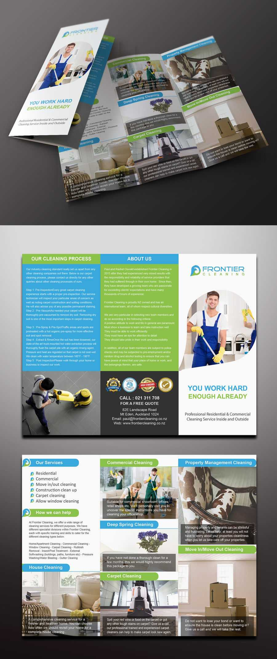 Entry #74Mamun313 For Design A 3 Fold Brochure, Business Inside Commercial Cleaning Brochure Templates