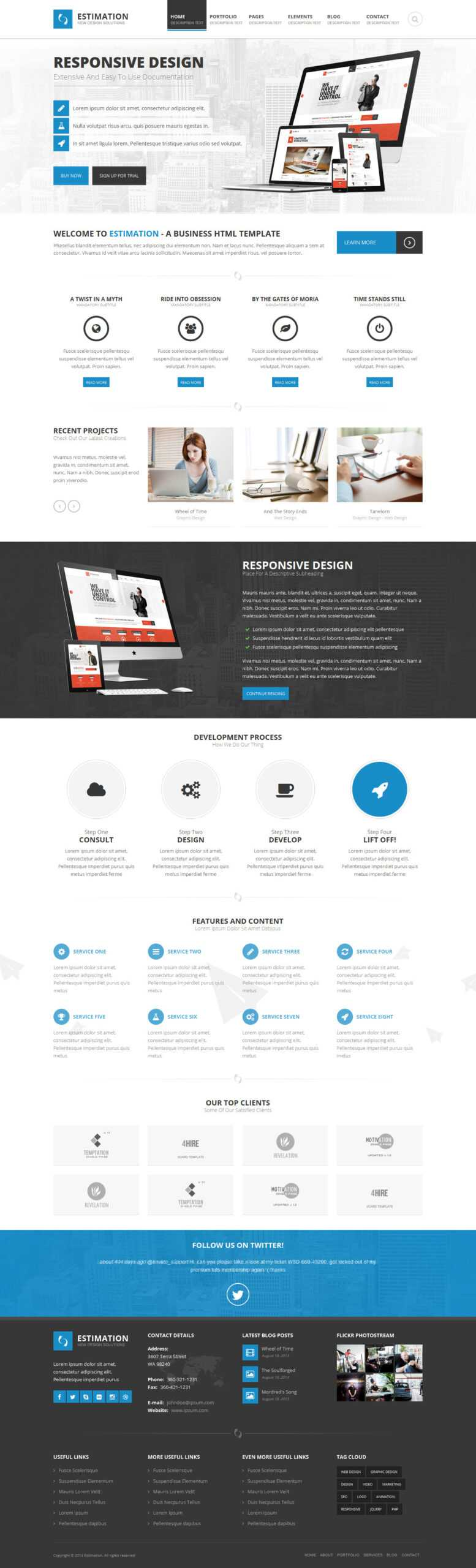Estimation - Responsive Business Html Template Inside Estimation Responsive Business Html Template Free Download