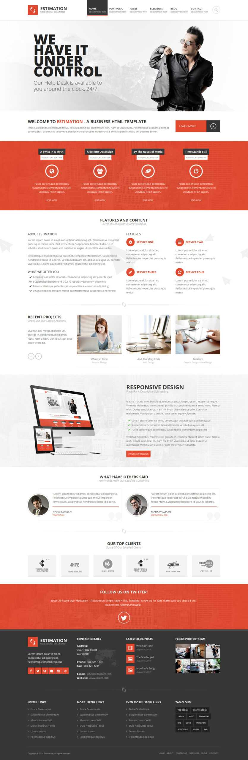 Estimation - Responsive Business Html Template With Regard To Estimation Responsive Business Html Template Free Download