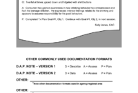 Example S.o.a.p. Note Other Commonly Used in Dap Note Template