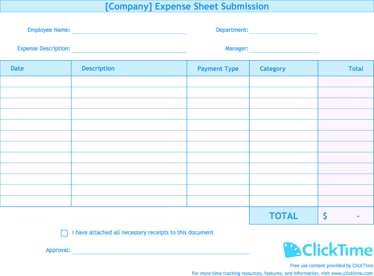 Expense Report Template | Track Expenses Easily In Excel Inside Company Expense Report Template