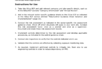 Exposure Control Plan (Ecp) Template intended for Exposure Control Plan Template