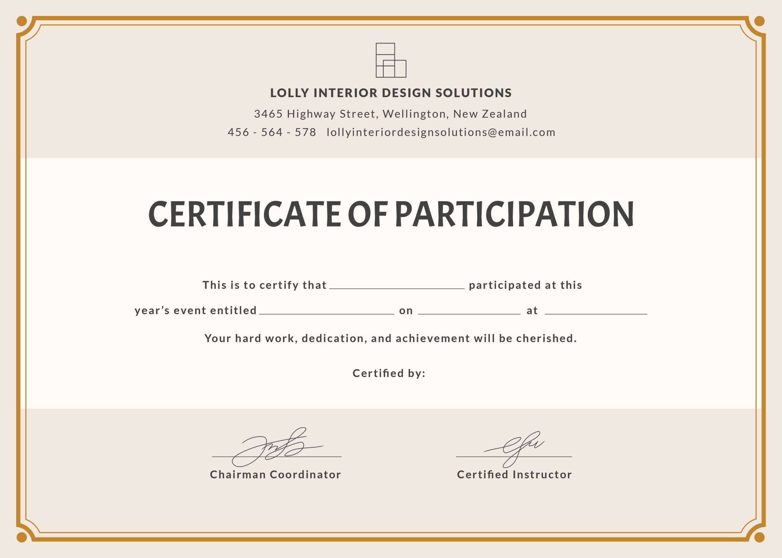 🥰free Printable Certificate Of Participation Templates (Cop)🥰 With Free Templates For Certificates Of Participation