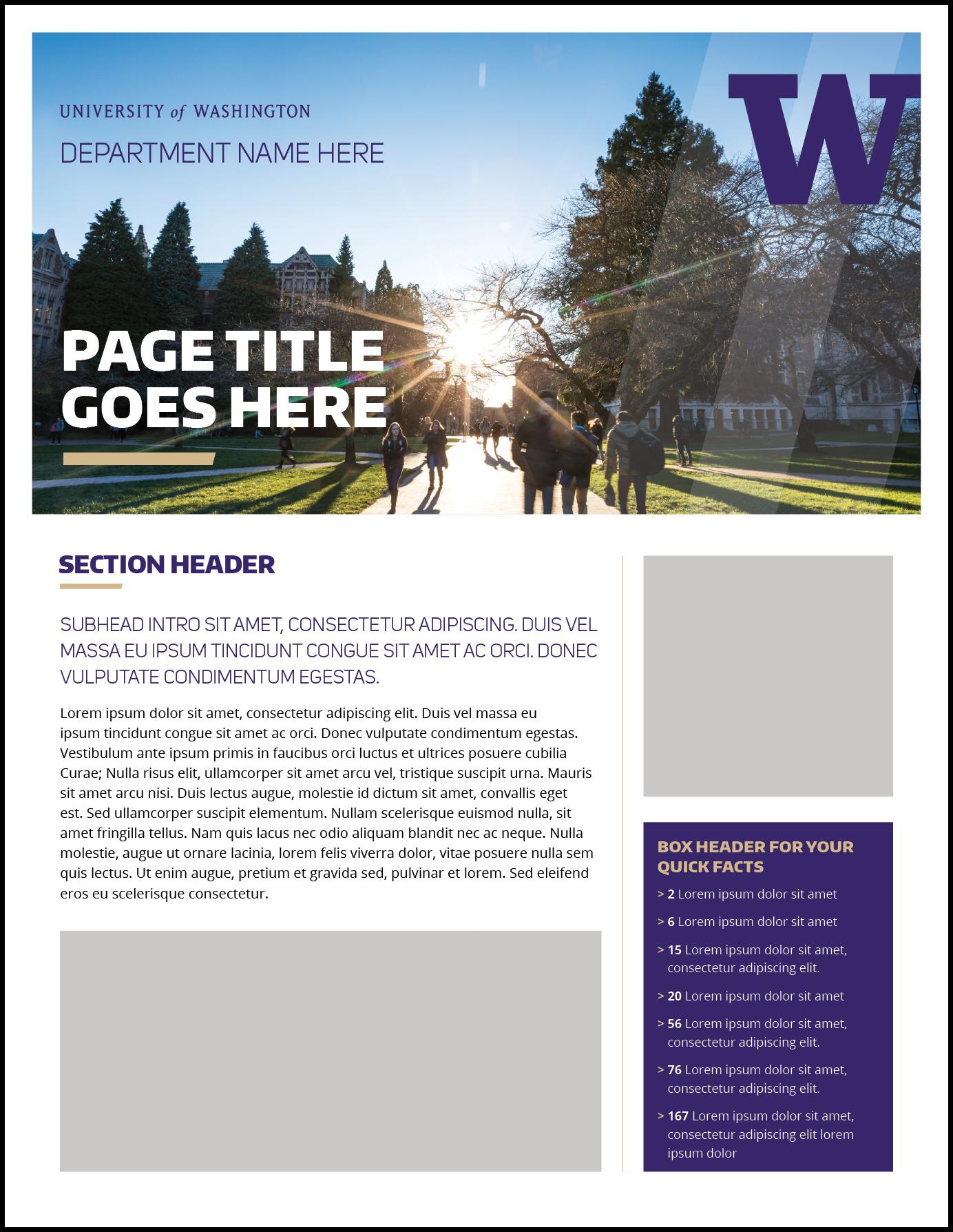 Fact Sheet | Uw Brand With Fact Sheet Template Microsoft Word