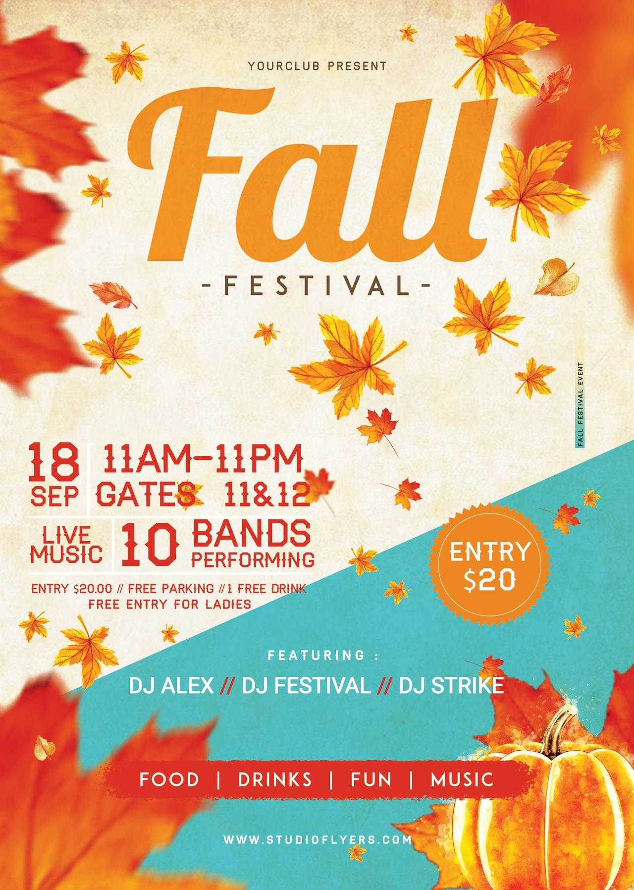 Fall Festival #3 Free Psd Flyer Template - Free Psd Flyer Inside Fall Festival Flyer Templates Free