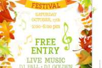 Fall Festival Template. Stock Vector. Illustration Of Letter throughout Fall Festival Flyer Templates Free