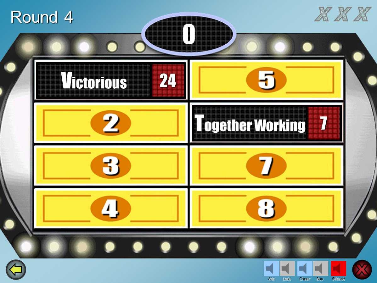 Family Feud Customizable Powerpoint Template - Youth Intended For Family Feud Powerpoint Template Free Download