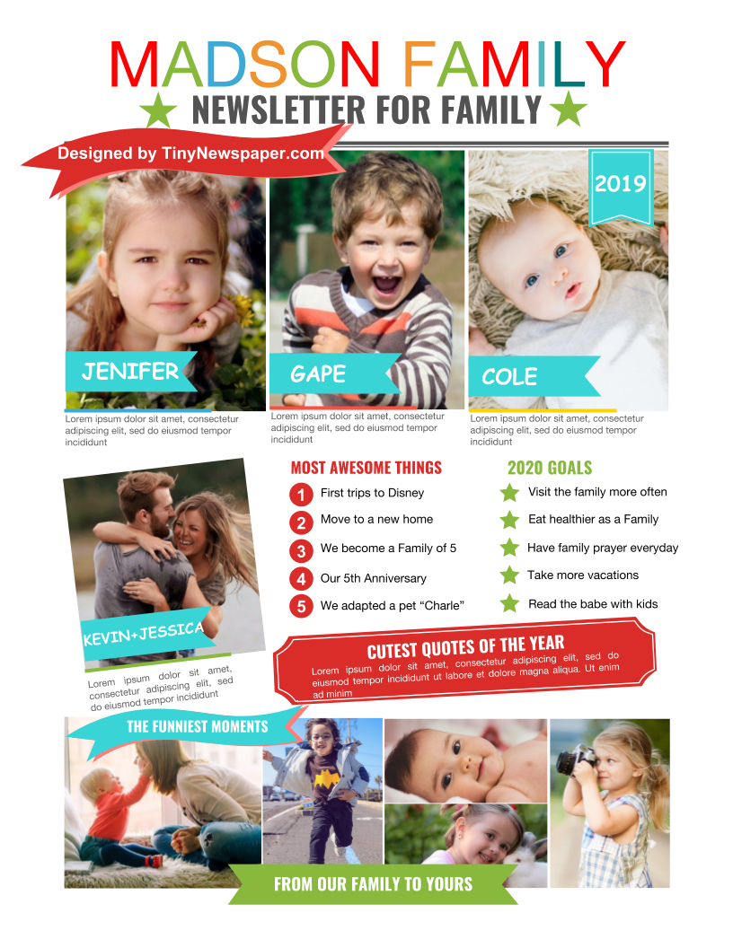 Family Newsletter Template Google Docs Within Family Newsletter Template