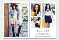 Fashion Model Comp Card Template within Free Comp Card Template