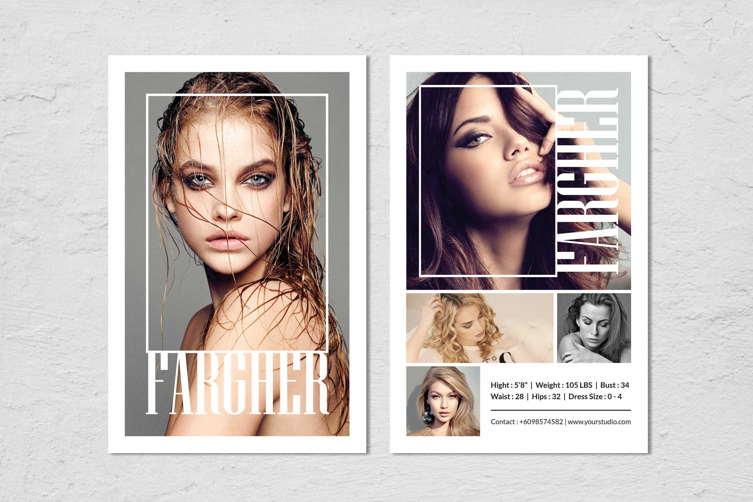 Fashion Modeling Comp Card Template In Download Comp Card Template