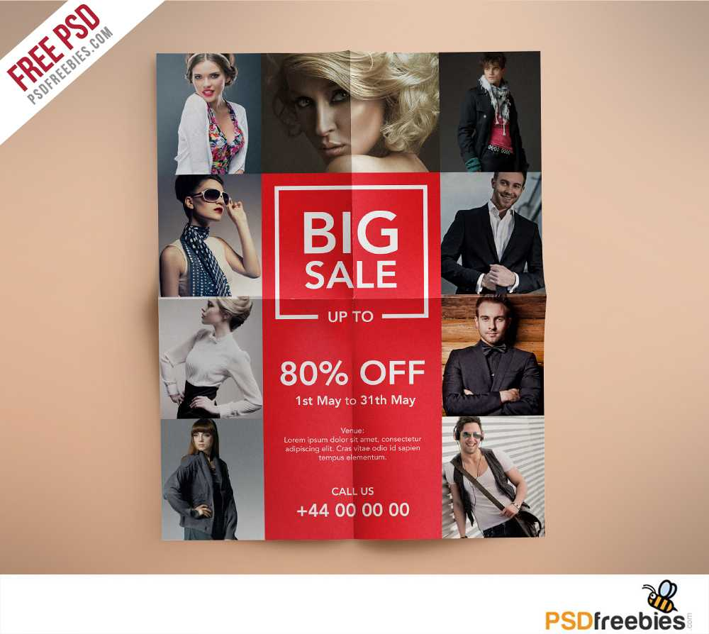 Fashion Retail Sales Flyers Free Psd Template | Psdfreebies For Fashion Flyers Templates For Free