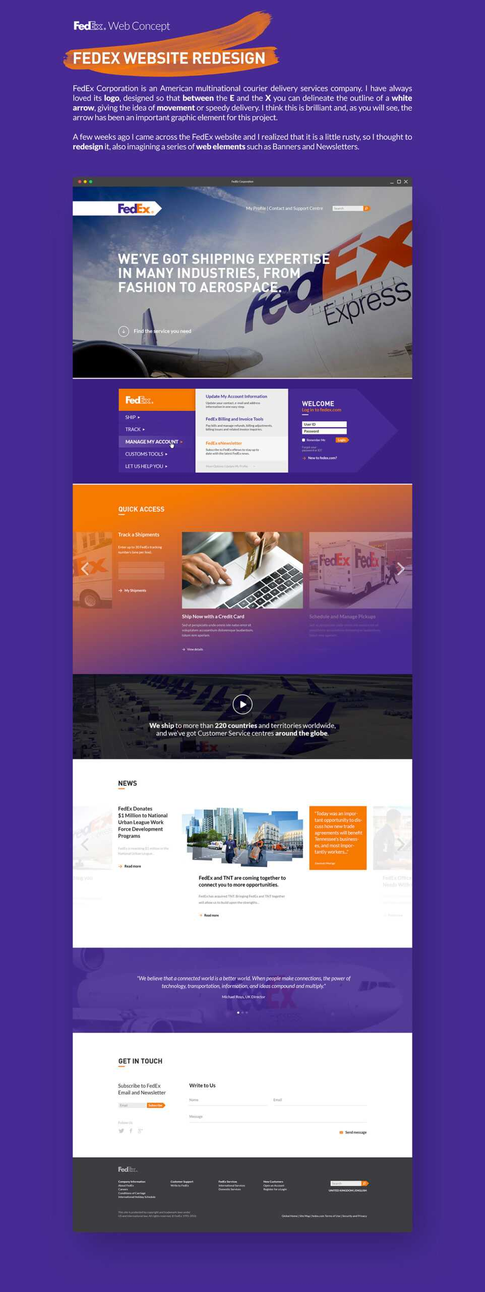 Fedex Web Concept On Aiga Member Gallery For Fedex Brochure Template