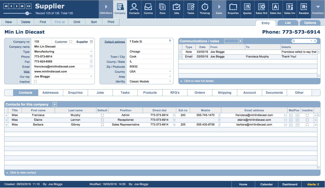 Filemaker Business Templates - Jobpro Central Features Regarding Filemaker Business Templates