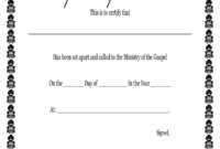 Fillable Online Printable Certificate Of Ordination with Free Ordination Certificate Template