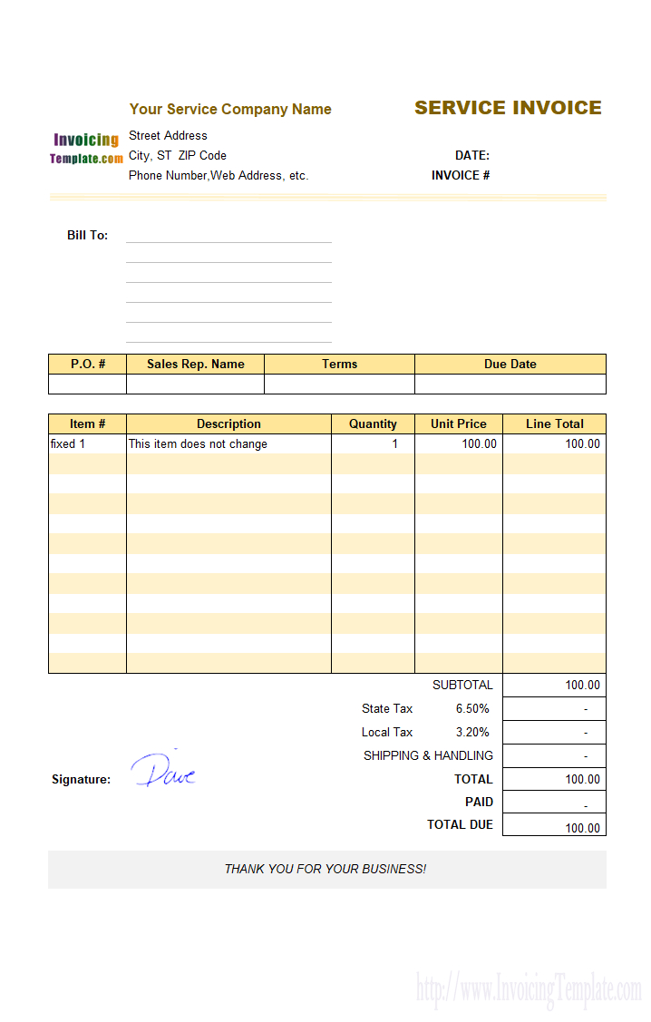 Film Invoice Template Throughout Film Invoice Template