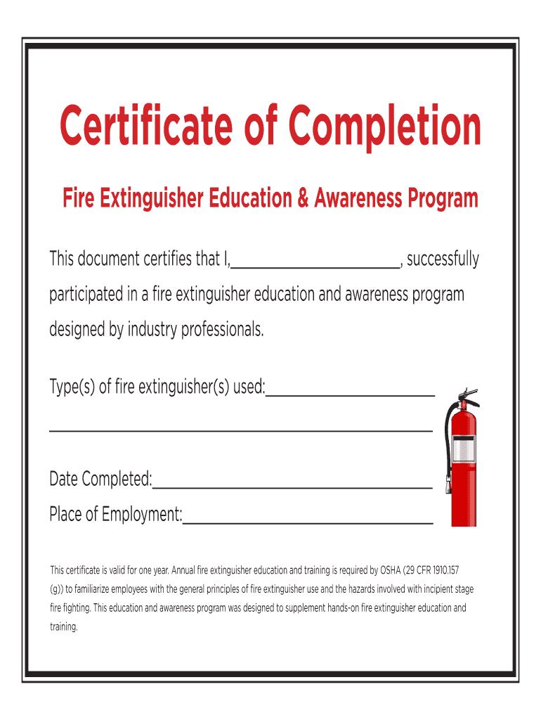 Fire Extinguisher Certificate Pdf - Fill Online, Printable In Fire Extinguisher Certificate Template
