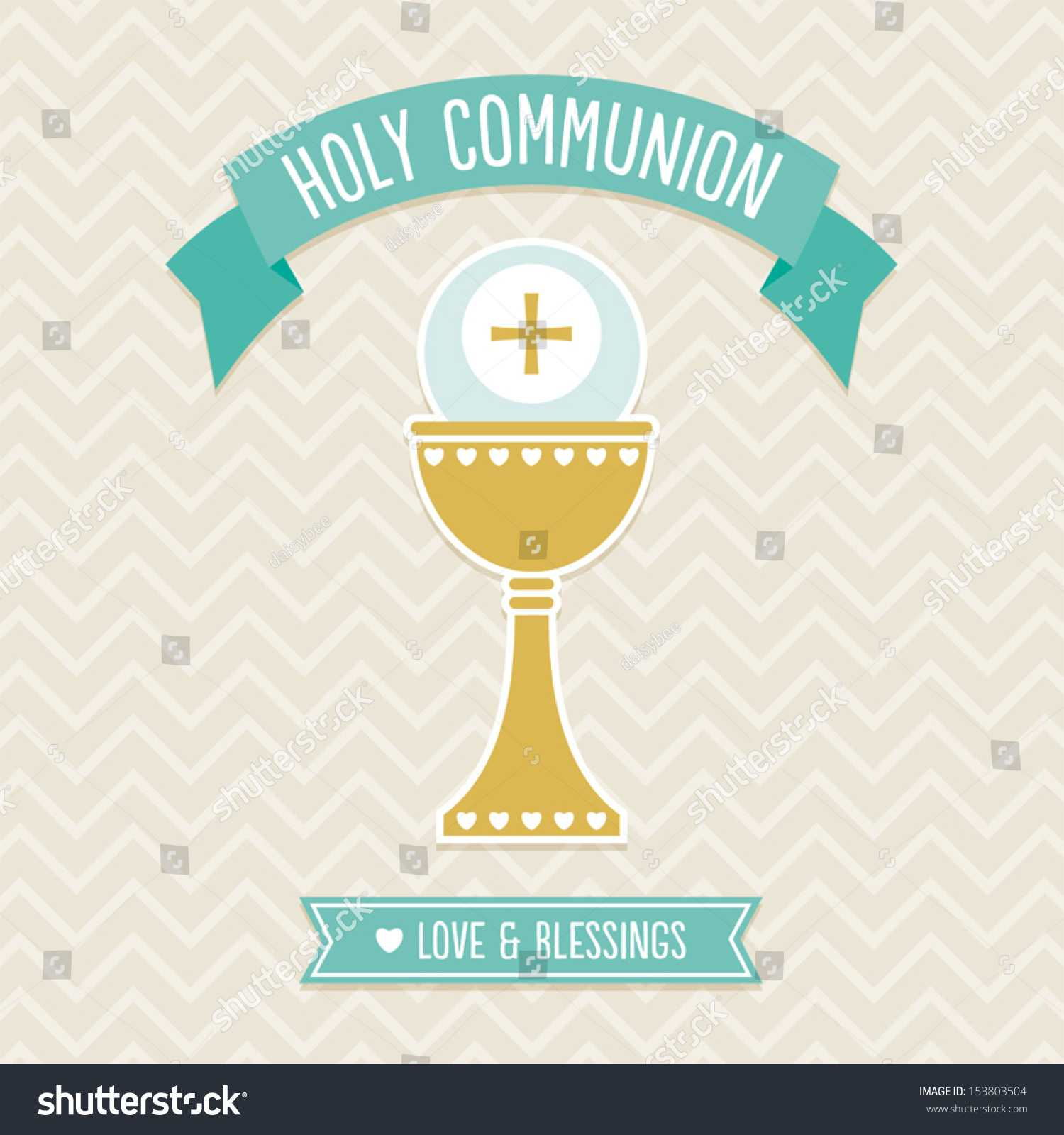 First Holy Communion Card Template Cream Stock Vector Inside First Holy Communion Banner Templates