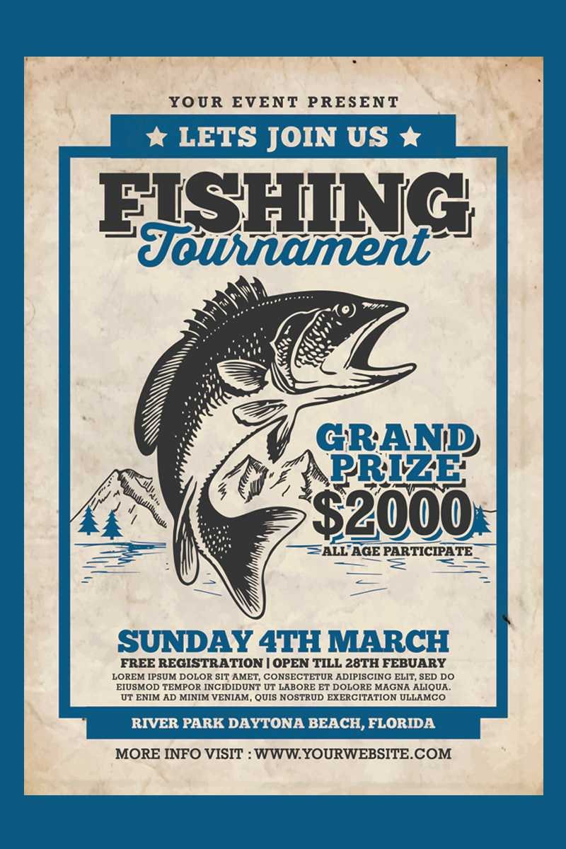 Fishing Tournament Flyer Corporate Identity Template Intended For Fishing Tournament Flyer Template