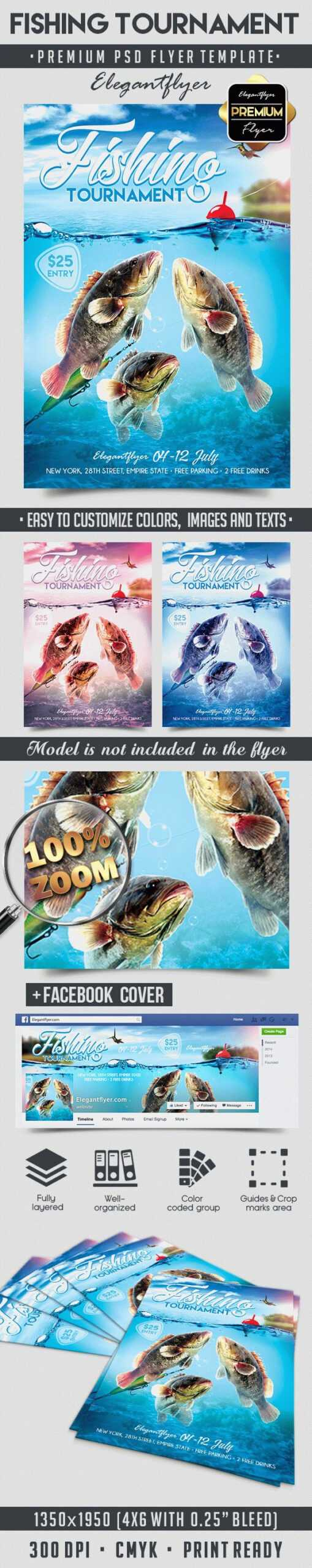 Fishing Tournament – Flyer Psd Template In Fishing Tournament Flyer Template
