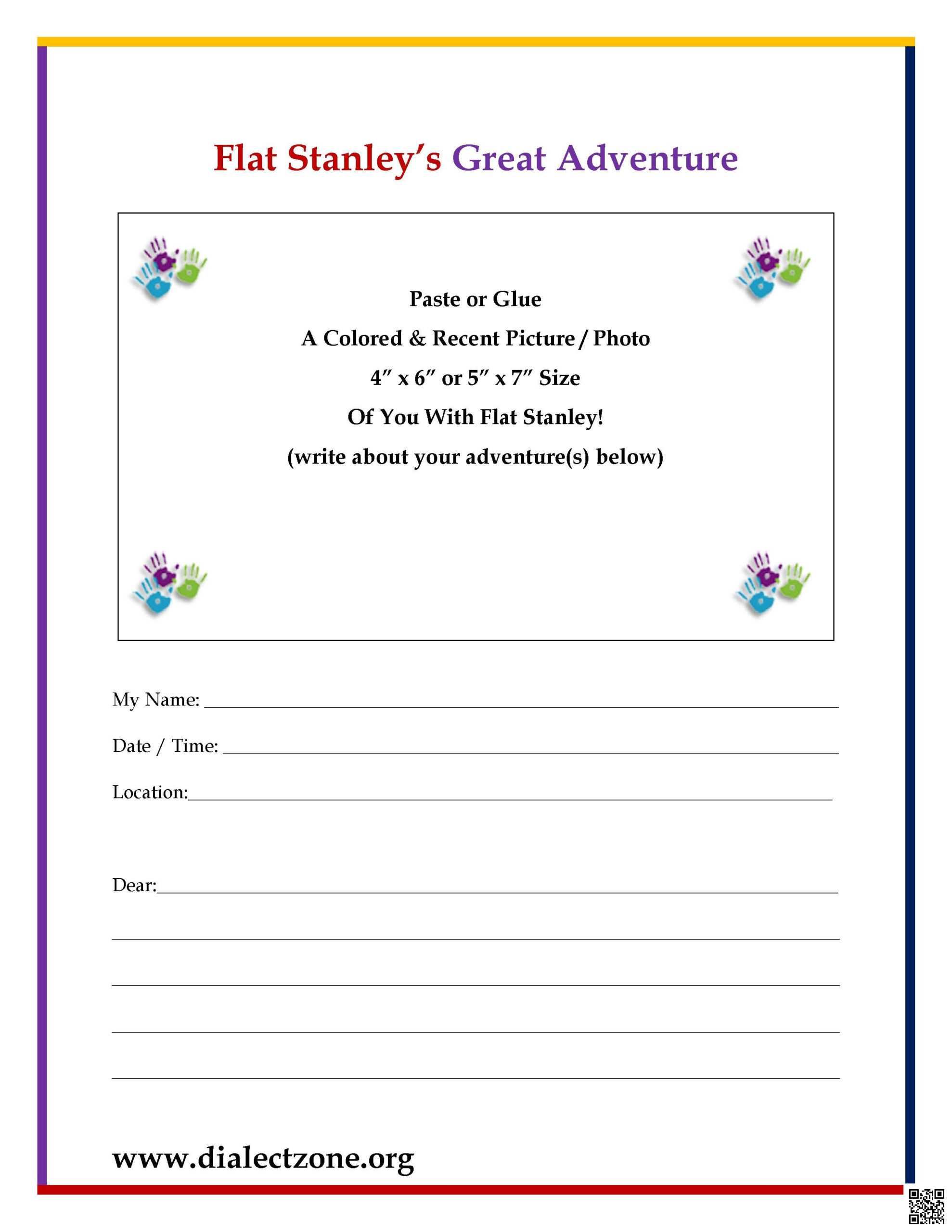 Flat Stanley Great Adventure Letter | Dialect Zone International With Flat Stanley Letter Template
