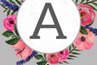 Floral Alphabet Banner Letters Free Printable – Paper Trail with Free Letter Templates For Banners