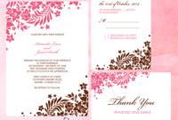 Foliage Borders Invitation, Rsvp And Thank You Cards regarding Free Printable Wedding Rsvp Card Templates