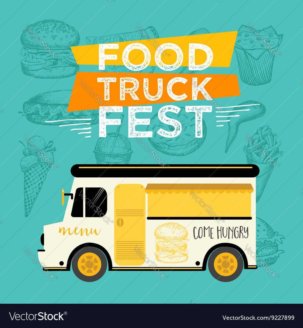 Food Truck Party Invitation Food Menu Template With Regard To Food Truck Menu Template