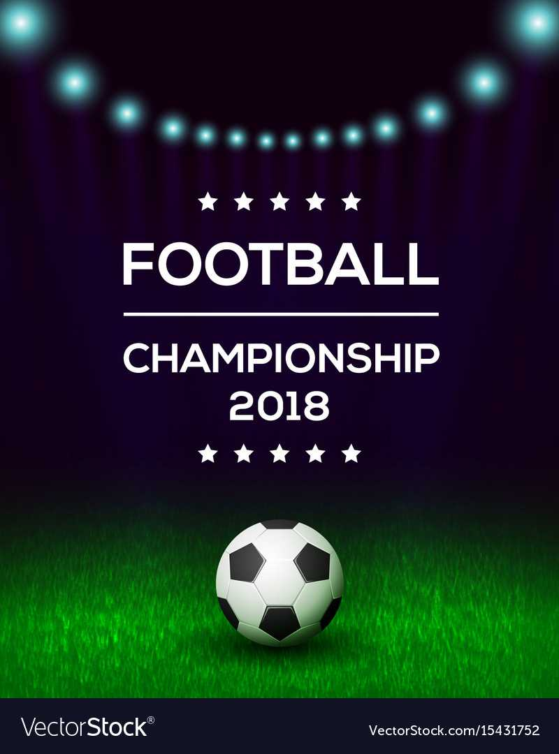 Football Championship Poster Banner Template In Football Tournament Flyer Template