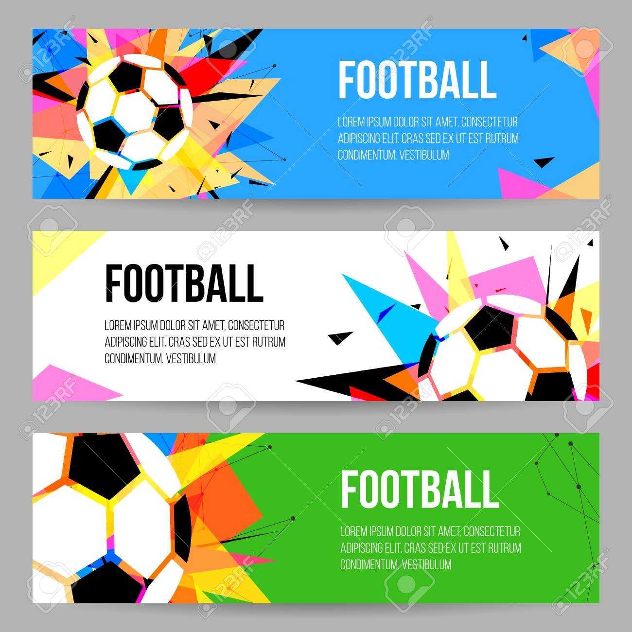 Football Tournament Banner Templates Set. Soccer Championship.. Regarding Football Tournament Flyer Template