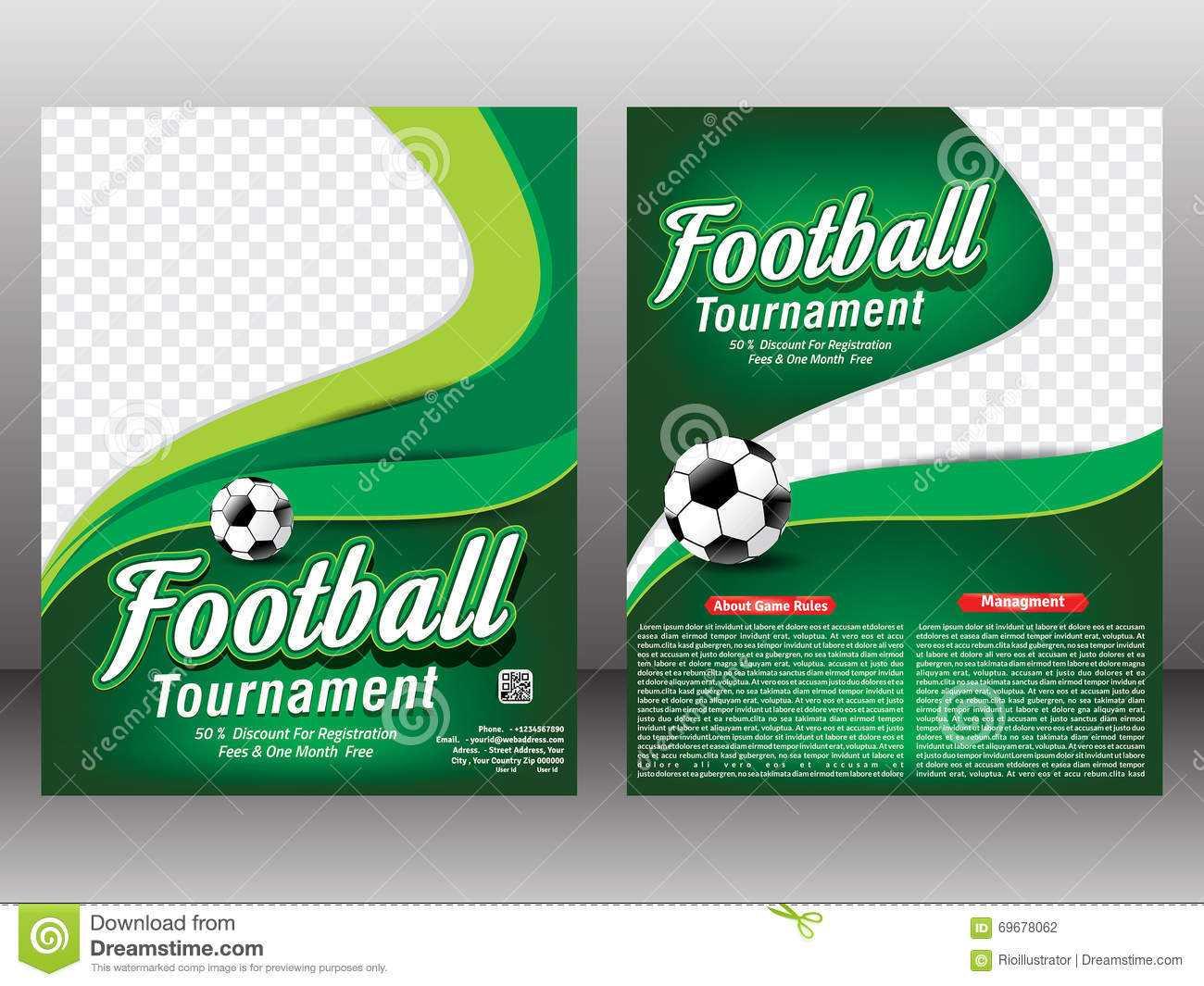 Football Tournament Flyer & Magazine Template Stock Intended For Football Tournament Flyer Template