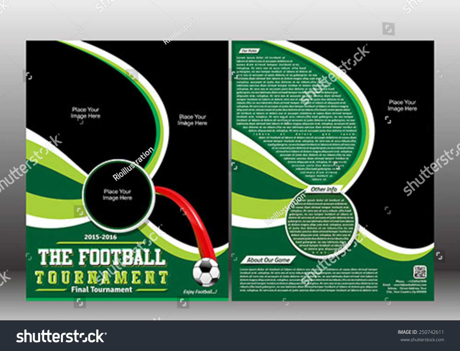Football Tournament Flyer Template Vector Illustration Stock Regarding Football Tournament Flyer Template