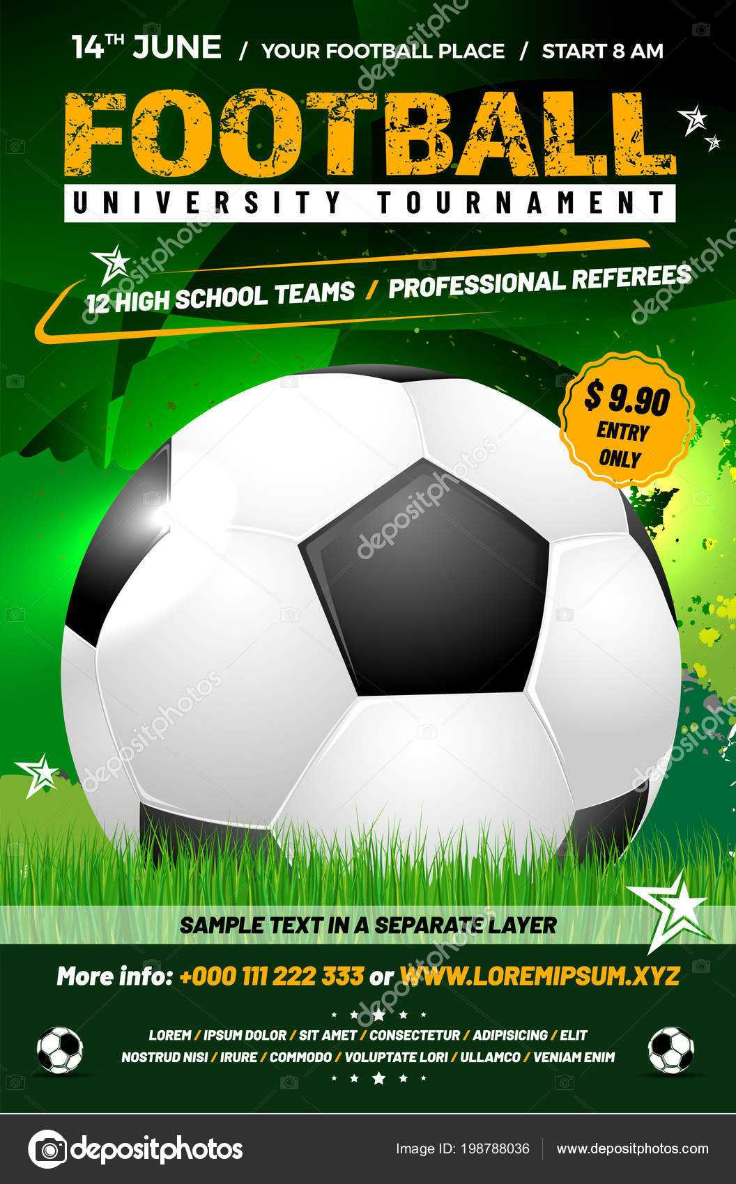 Football Tournament Poster Template | Football Tournament Regarding Football Tournament Flyer Template