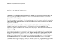 Formal Complaint Letter Sample Against A Person | Templates with regard to Formal Letter Of Complaint To Employer Template
