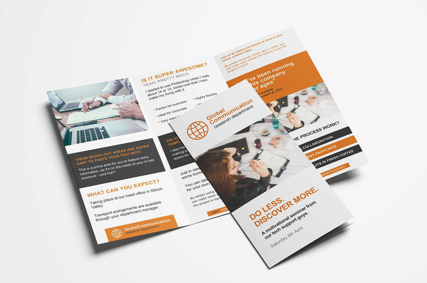 Free 3 Fold Brochure Template For Photoshop & Illustrator With Regard To Free Three Fold Brochure Template