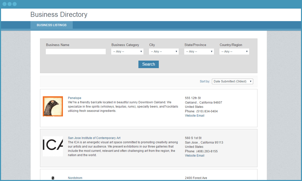 Free App: Online Directory Template For Any Website - Caspio Within Free Business Directory Template