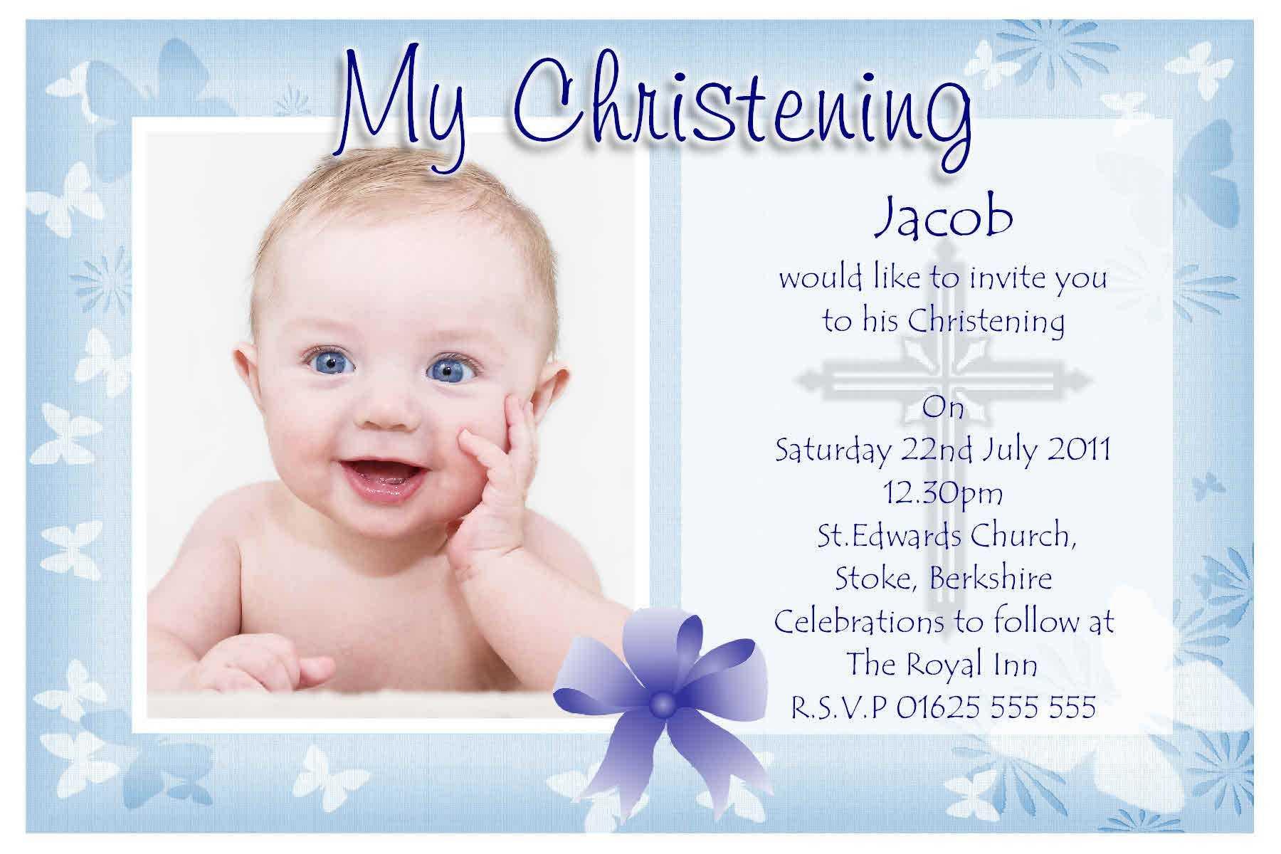 Free Baptism Invitation Template : Free Christening Within Free Christening Invitation Cards Templates